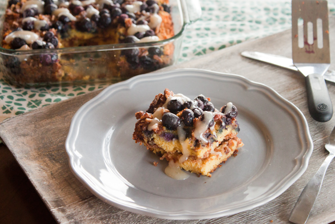 Grain Free Blueberry Coffee Cake | simplerootswellness.com