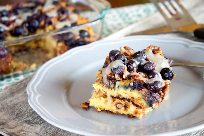 Grain Free Blueberry Coffee Cake | simplerootswellness.com