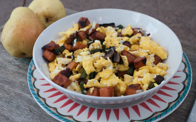 Egg and Sweet Potato Leftover Scramble | simplerootswellness.com