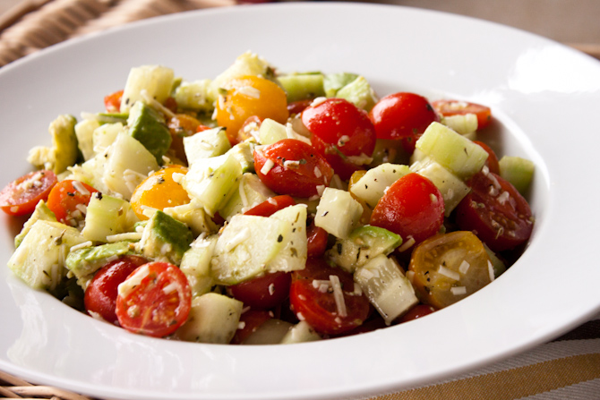Tomato, Cucumber and Avocado Salad | simplerootswellness.com
