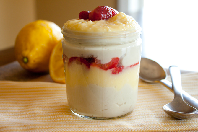 Strawberry Lemon Curd Coconut Milk Pudding | simplerootswellness.com