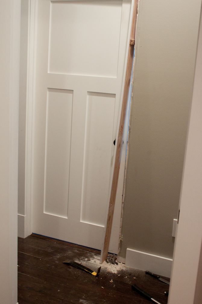 Door broken out of the wall | simplerootswellness.com