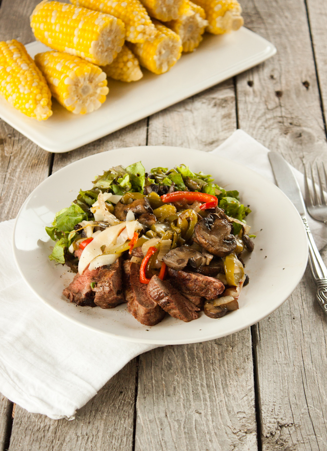 Philly Cheesesteak Salad | simplerootswellness.com