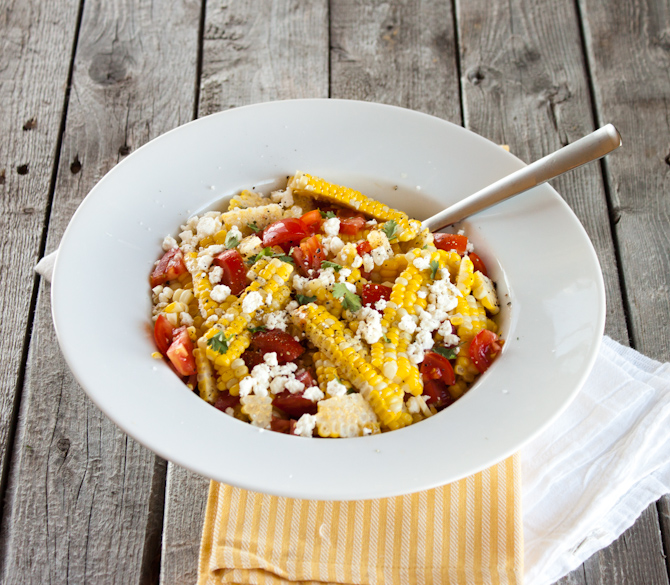 Buttery Sweet Corn, Tomato and Feta Salad | simplerootswellness.com