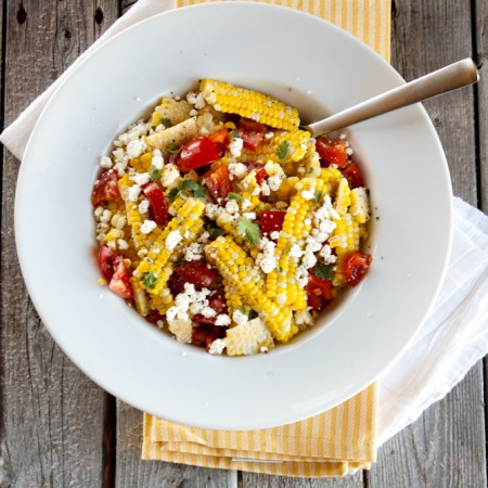 Buttery Sweet Corn, Tomato and Feta Salad