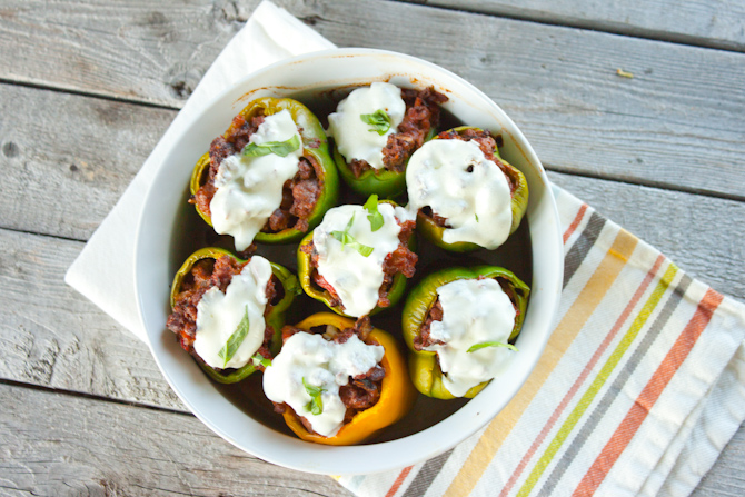 Pizza Stuffed Peppers | simplerootswellness.com