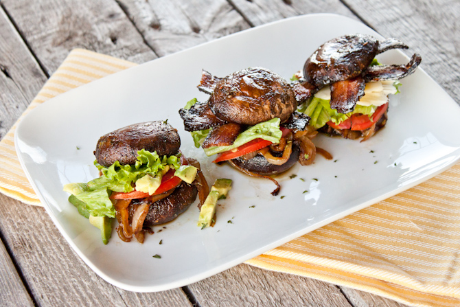 Portobello Sliders Three Ways | simplerootswellness.com