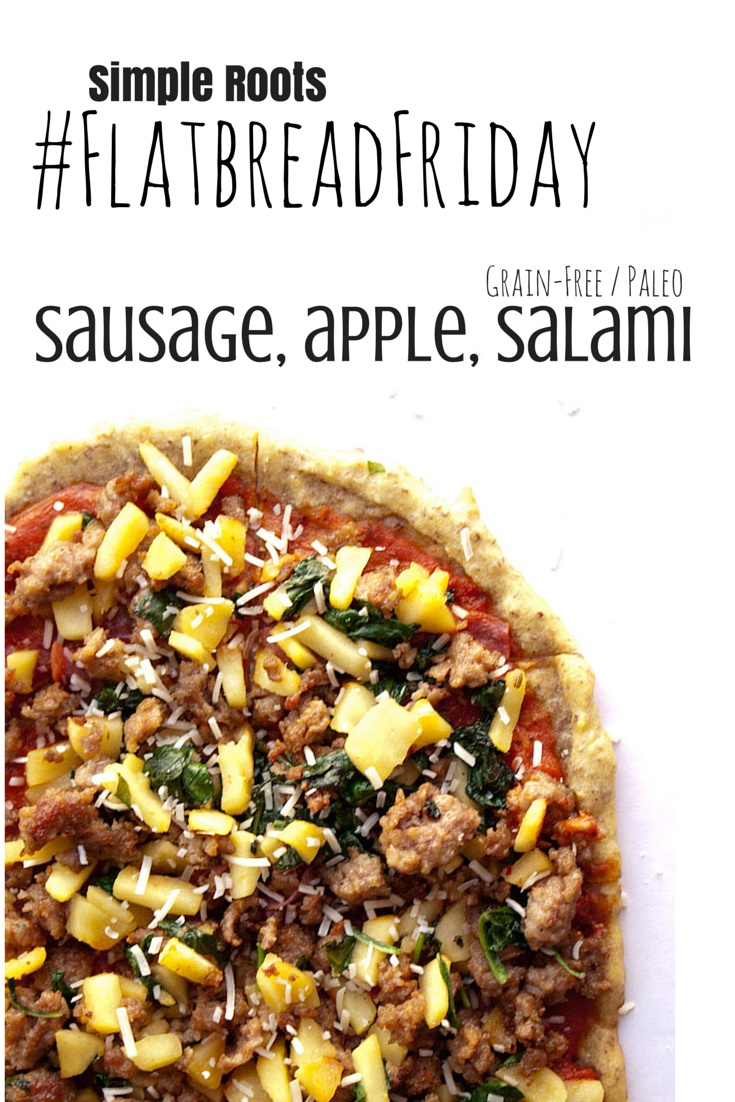 Sausage, Apple and Salami Flatbread | simplerootswellness.com