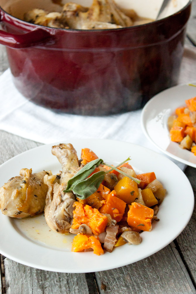 One Pot Savory Chicken and Fall Produce   simplerootswellness.com