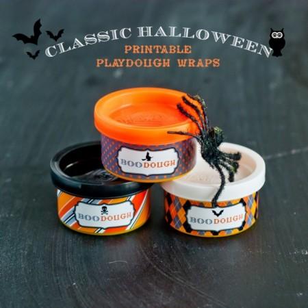 Halloween Printable Playdough Wraps
