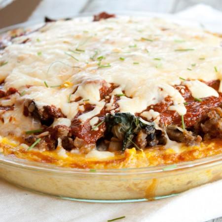 Grain Free Spaghetti Pie | simplerootswellness.com