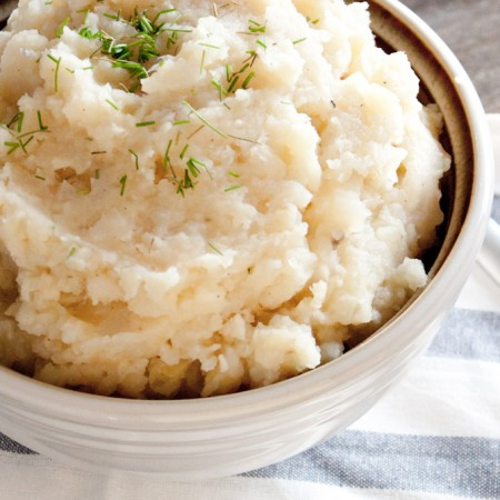 Garlic Mashed Root Vegetables