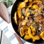 Caramelized Onion and Sage Roasted Squash | simplerootswellness.com