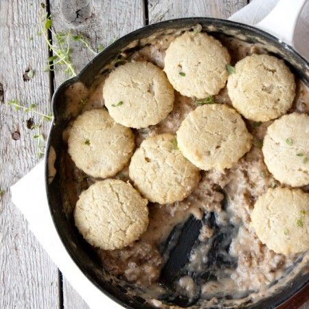 Grain Free Biscuits and Gravy | simplerootswellness.com