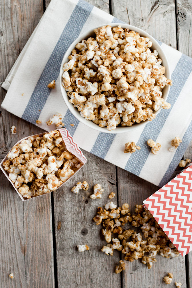 Caramel popcorn isn't typically considered a healthy snack, but this has less than half the sugar and tastes the same.