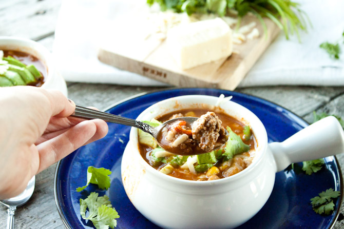 Secret Ingredient Taco Soup | simplerootswellness.com