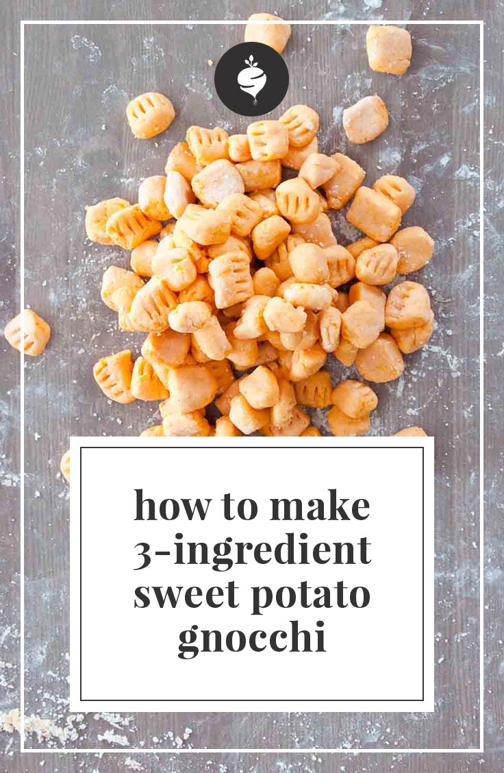 Sweet potato gnocchi is extremely easy with this three ingredient recipe.