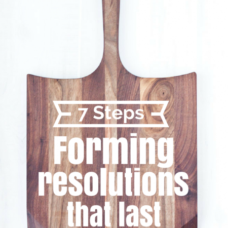 7 Steps To Forming Resolutions That Last –  Free Printables