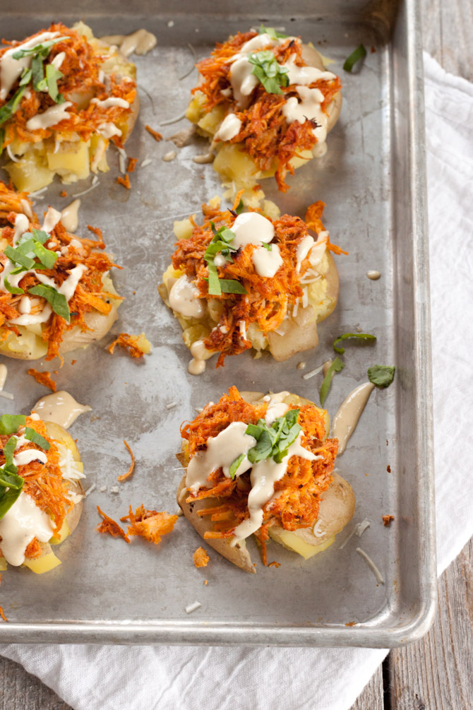 Buffalo Chicken Potato Smashers | simplerootswellness.com