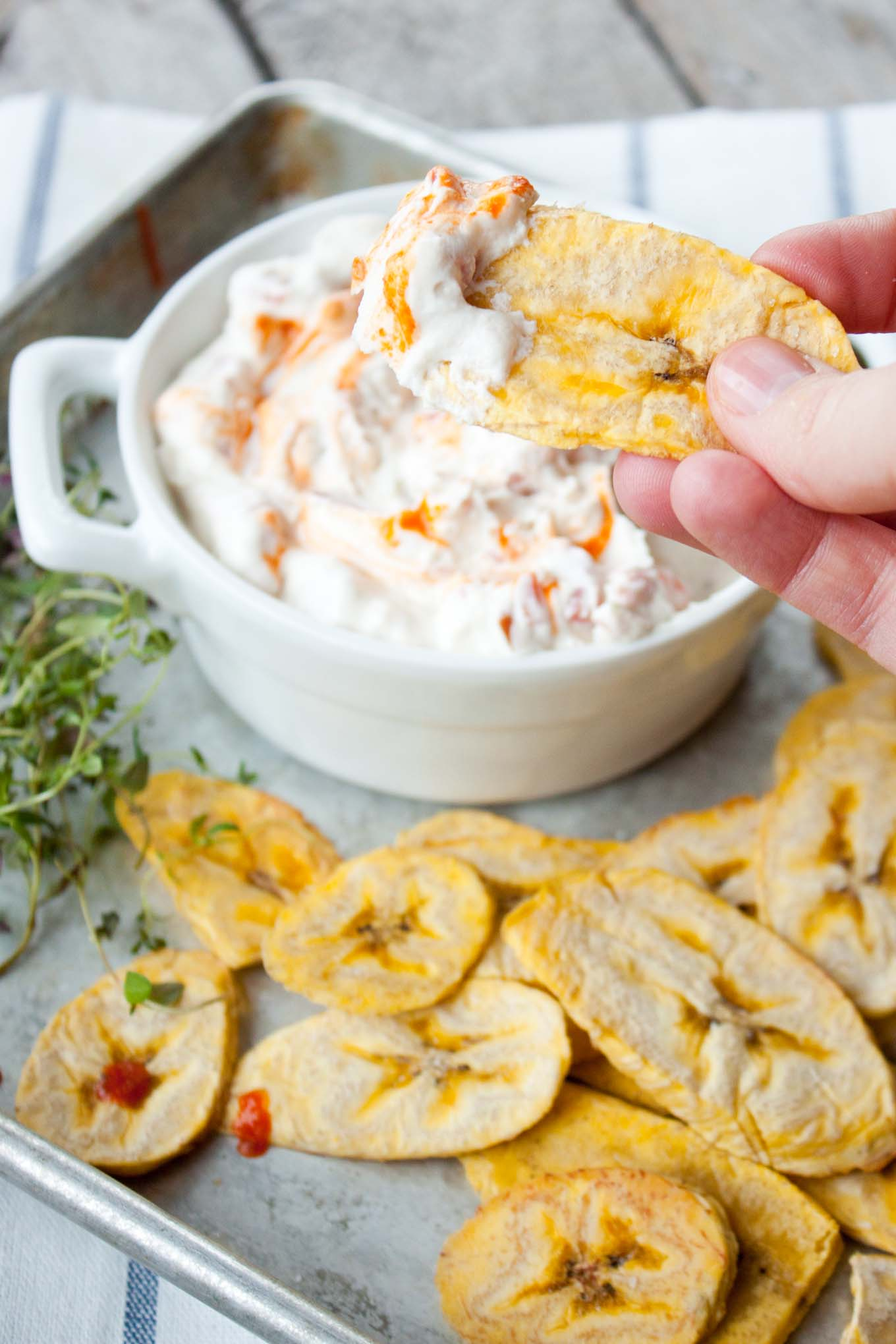 Goat Cheese Queso with Sriracha   simplerootswellness.com
