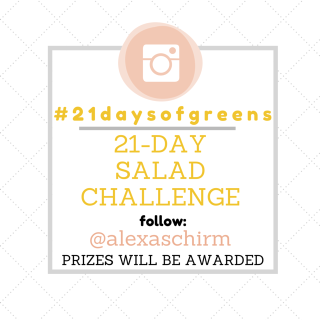 #21DaysofGreens Salad Challenge and Giveaway | simplerootswellness.com