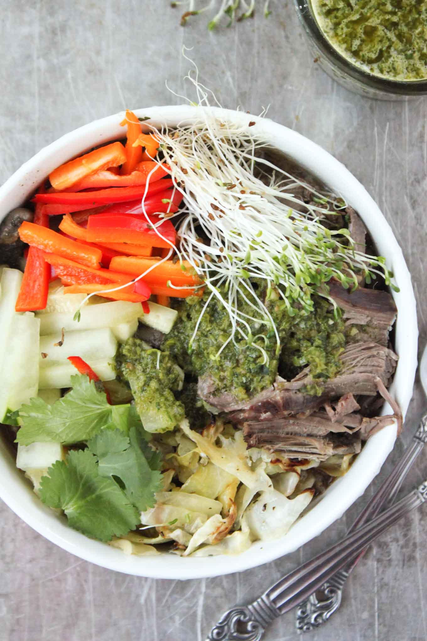 Slow Cooker Vietnamese Beef with Chimichurri | Simple Roots Wellness