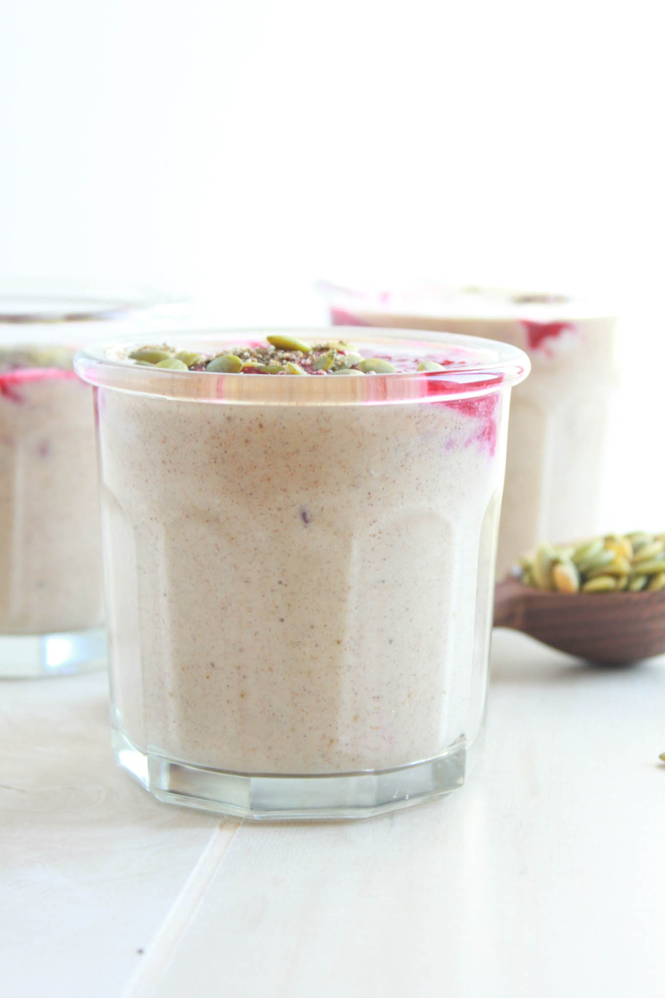 "Chai Spiced ""Yogurt"" with Warm Berry Sauce   simplerootswellness.com"