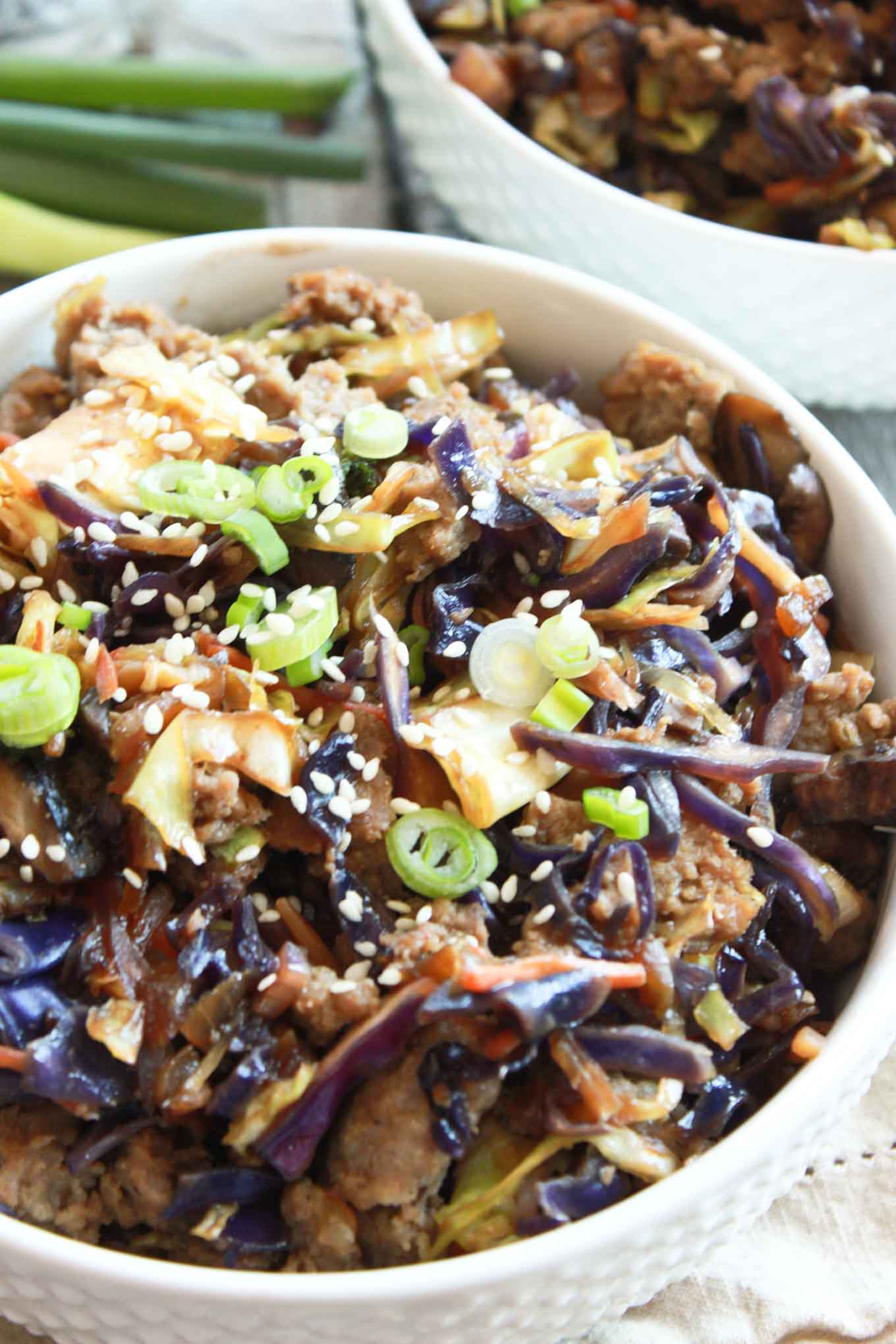Egg Roll in a Bowl   simplerootswellness.com