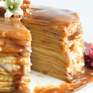 Banana & Butterscotch Crepe Cake | simplerootswellness.com
