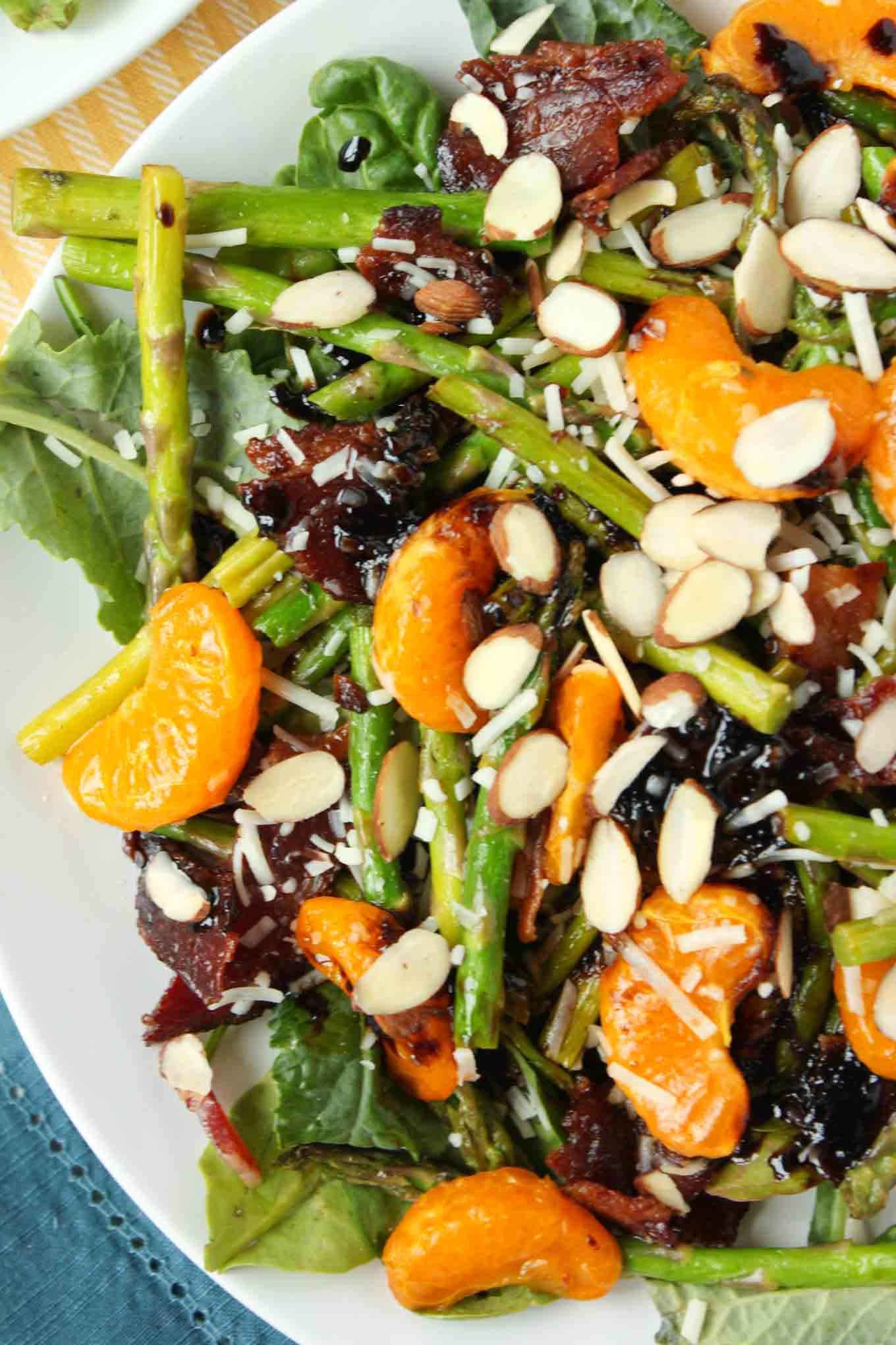 Bacon and Orange Balsamic Asparagus Salad | simplerootswellness.com