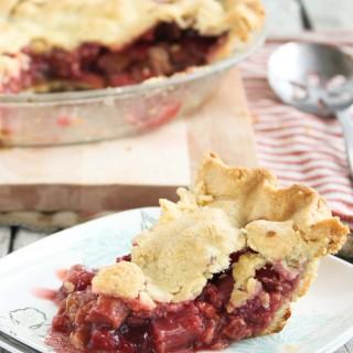 Raspberry Rhubarb {Grain-Free} Pie