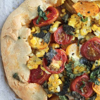 Savory Tomato and Corn Galette
