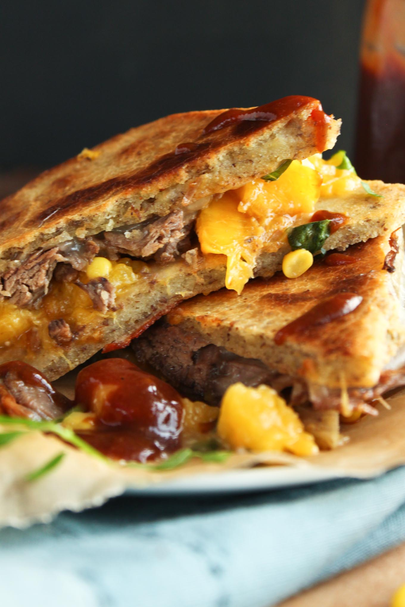 Short Rib and Peach Panini | simplerootswellness.com