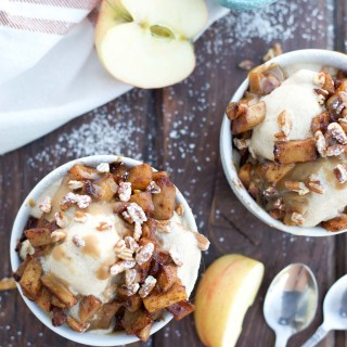 Easy 2-step Caramel Apple Cider Ice Cream bring all the flavors to fall in a delicious dessert.