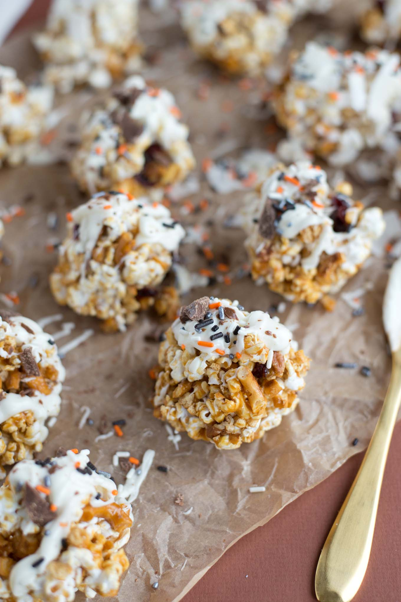 Five ingredient and 10 minutes to this healthified version of popcorn balls