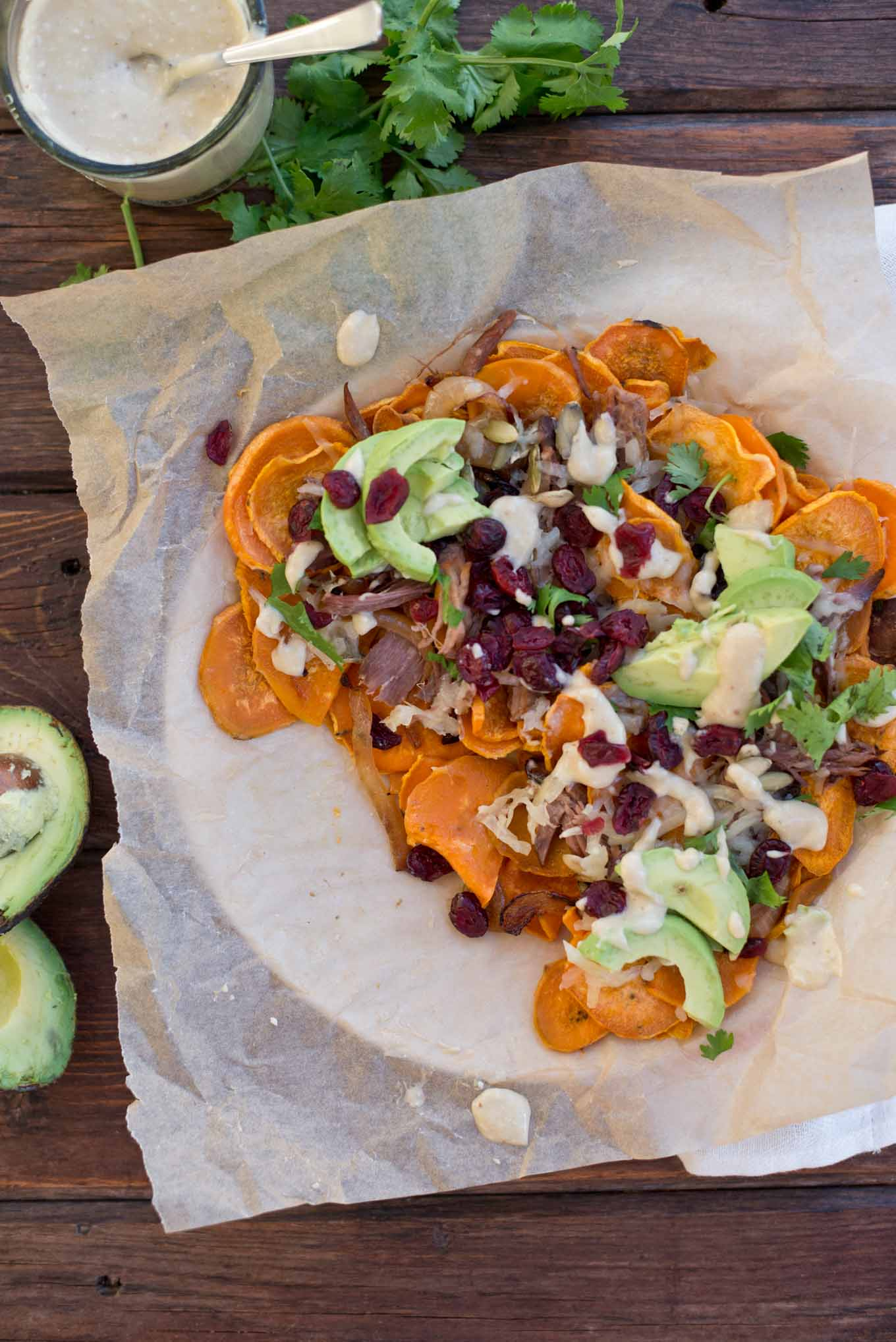 A quick and easy fall meal using leftovers, try these loaded sweet potato nachos tonight.