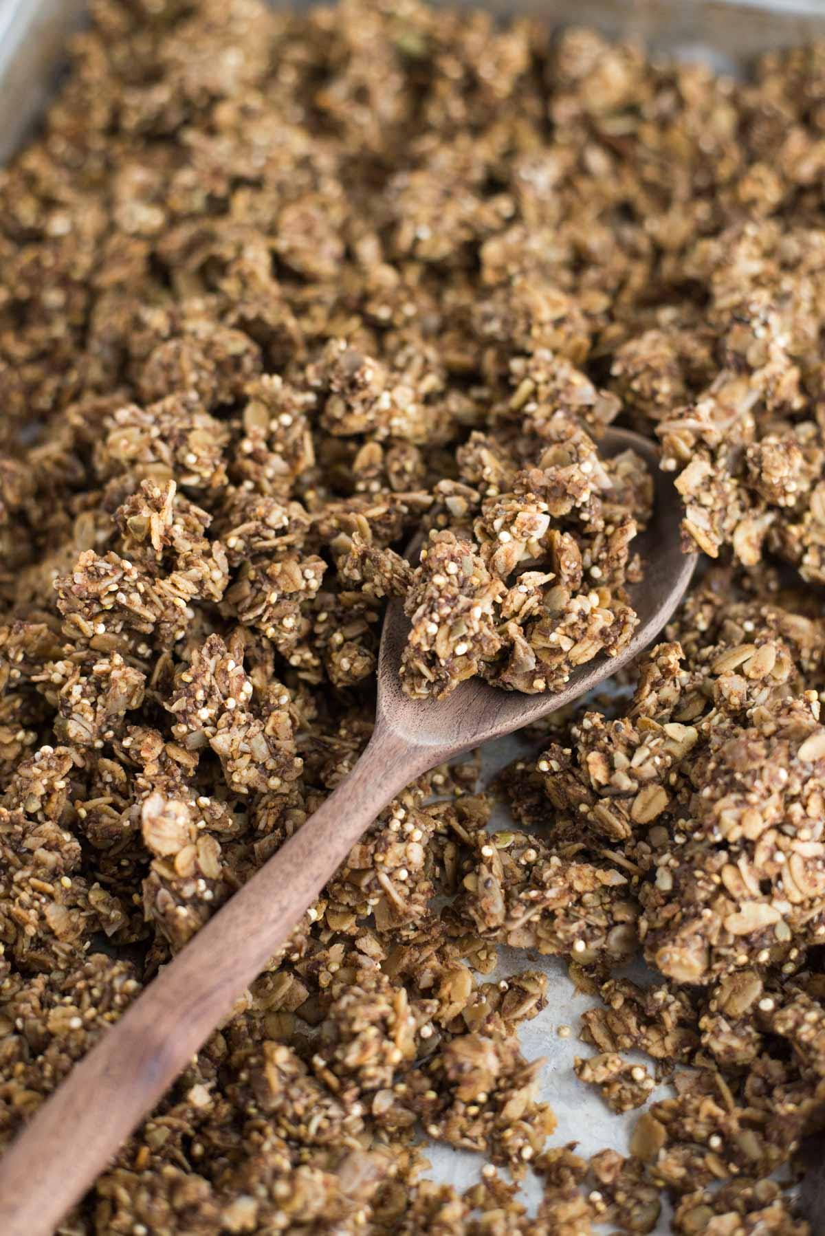 Superfood healthy granola. Loaded with everything nutritious this 10 minute granola is all you need.