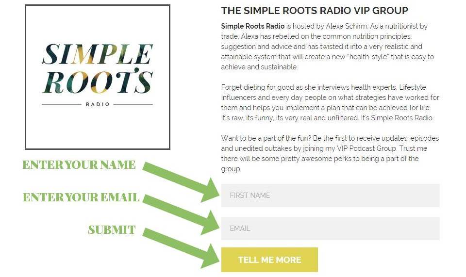 How To Subscribe To Simple Roots Radio | simplerootswellness.com