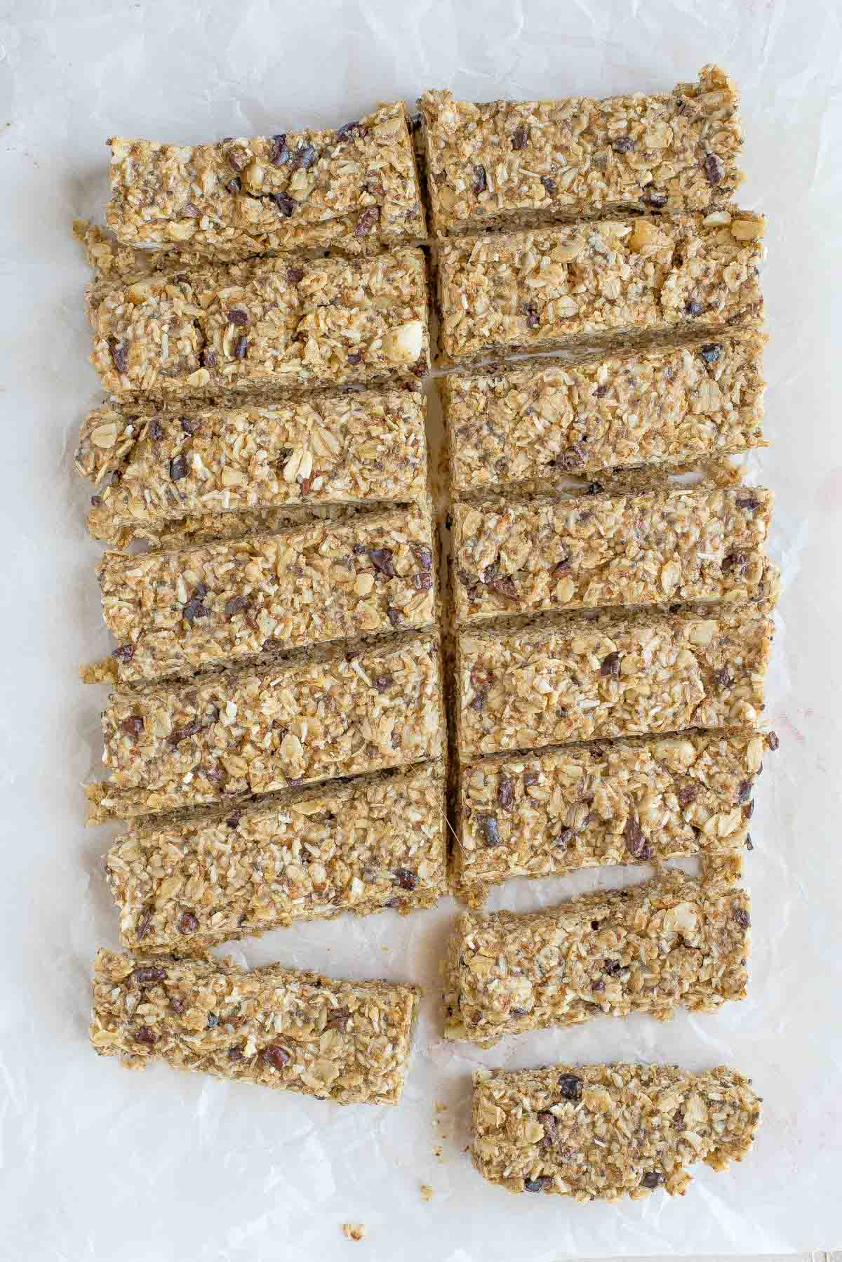 Are you looking for the perfect homemade snack? Check out this 10 minute chewy, no-bake, gluten free granola bar recipe. You'll be glad you did.