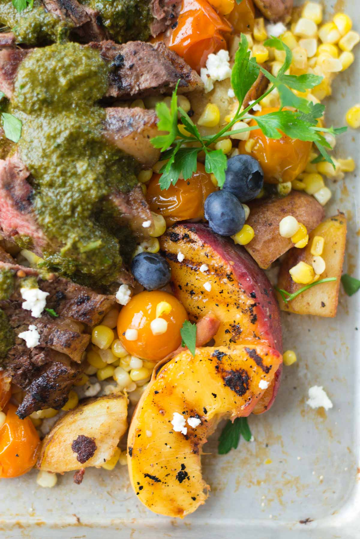 Looking for 30 minute week night dinner? Check out this recipe full of summer produce.