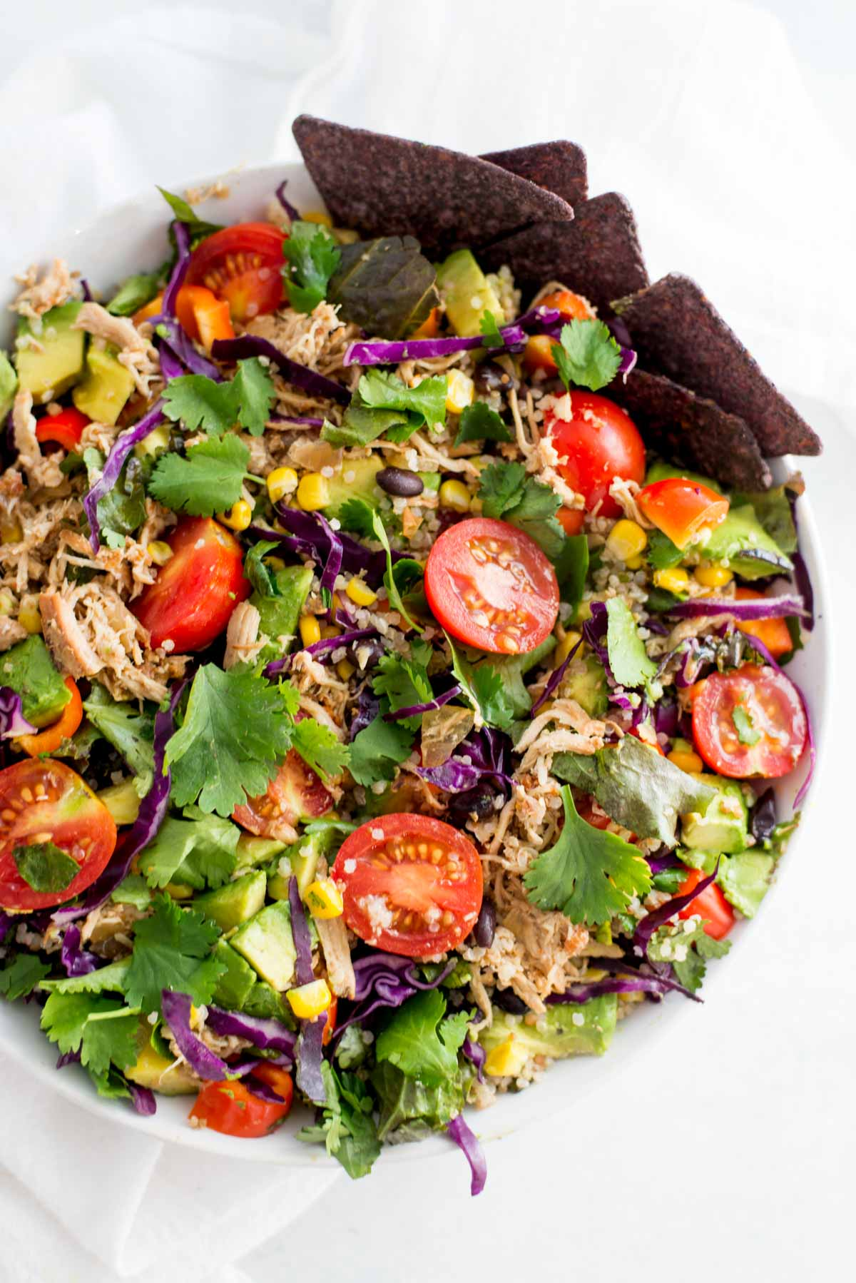 My favorite 10 minute lunch that is full of color and flavor.
