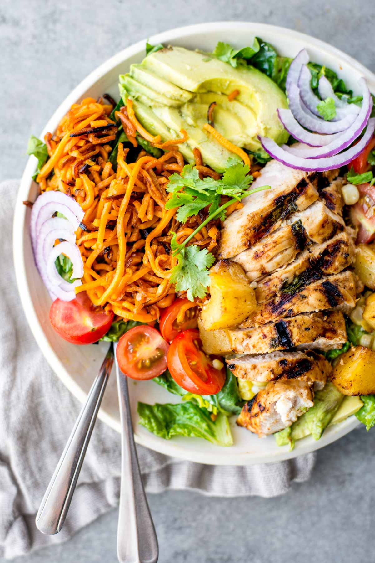 15 minute hawaiian chicken salad bowl simple roots dinner doesnt have to be complicated and healthy food should be delicious heres forumfinder Choice Image