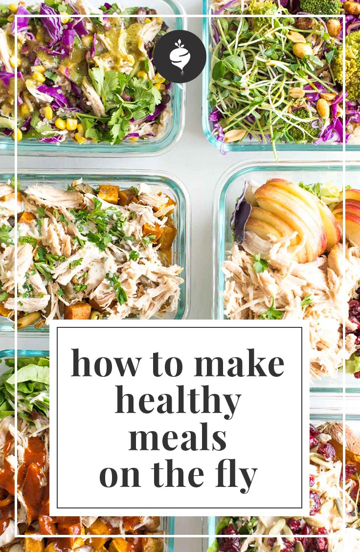 How-To Create Healthy Meals on the Fly | simplerootswellness.com #healthy #easymeals #foodprep #mealplanning #podcast