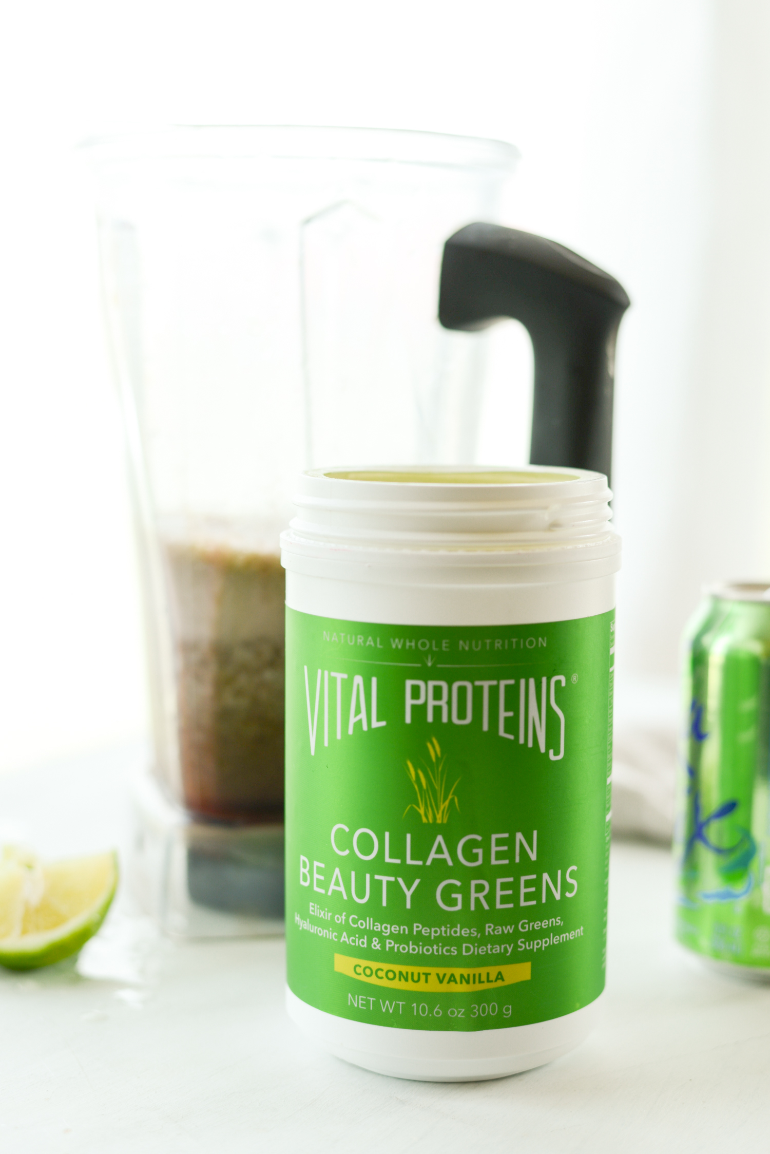 Homemade Green Electrolyte Energy Drink | simplerootswellness.com #collagen #stayvital #electrolytes #energydrink
