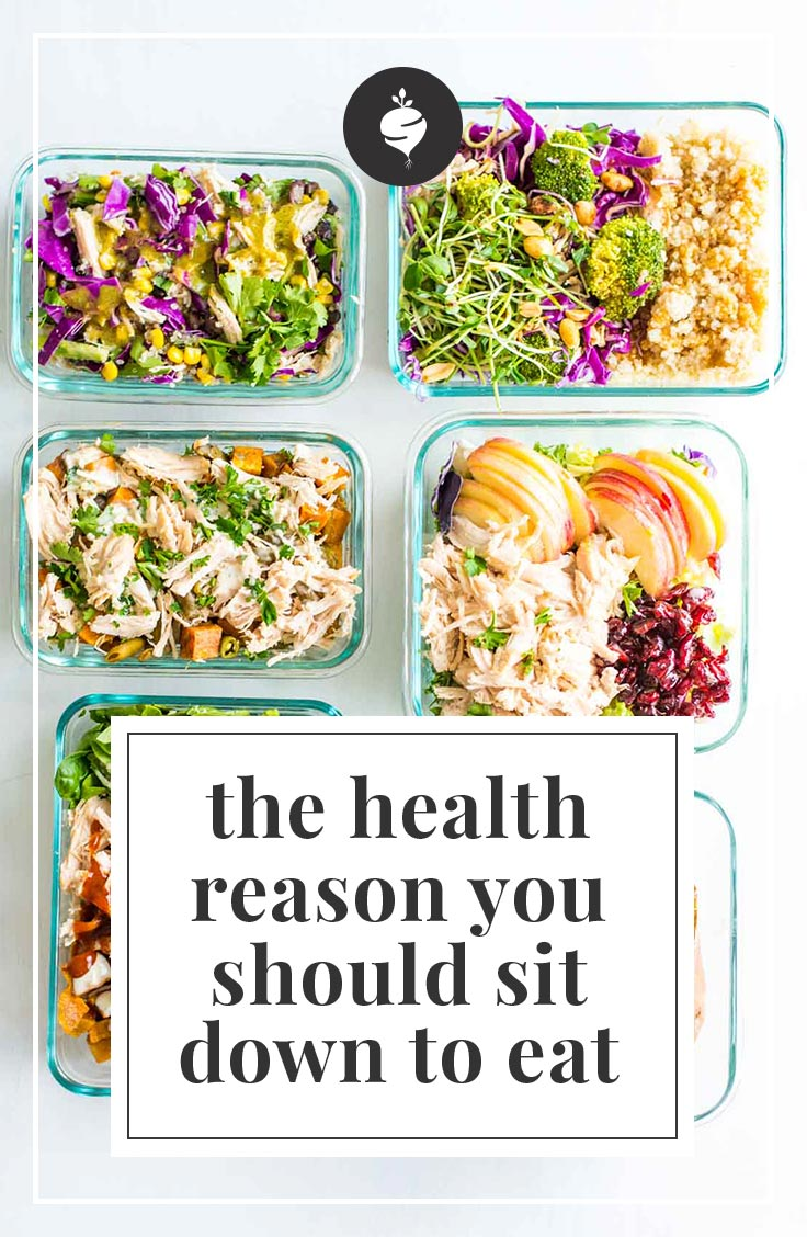 The Health Reason You Should Sit Down To Eat | simplerootswellness.com #podcast #healthtip #loseweight #healthy