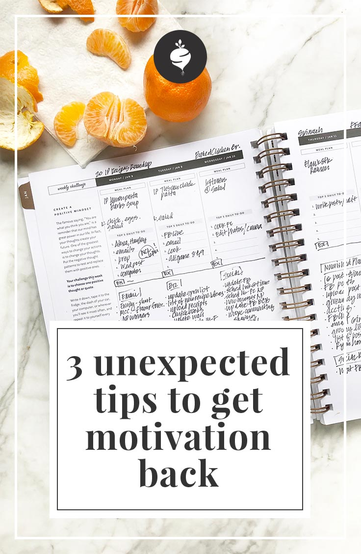 3 Unexpected Tips To Get Your Motivation Back | simplerootswellness.com #motivation #newyear #goals #health #easy