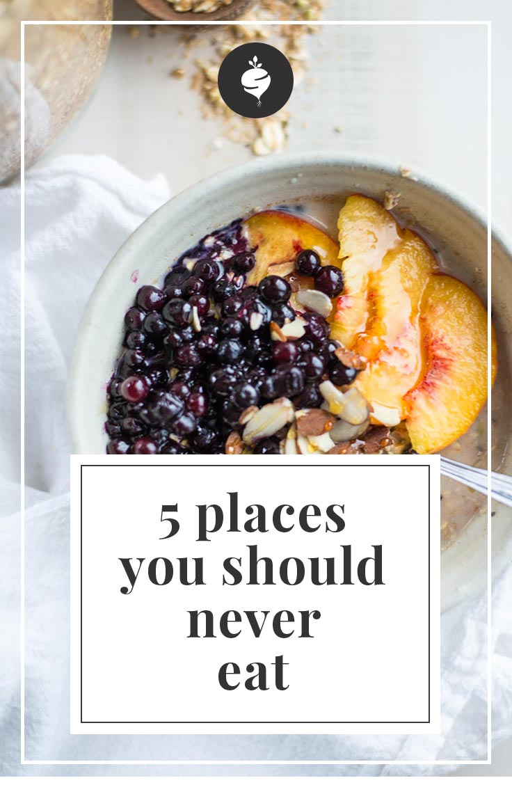 5 Places You Should Never Eat | simplerootswellness.com #podcast #wellness #health #weightloss #easy
