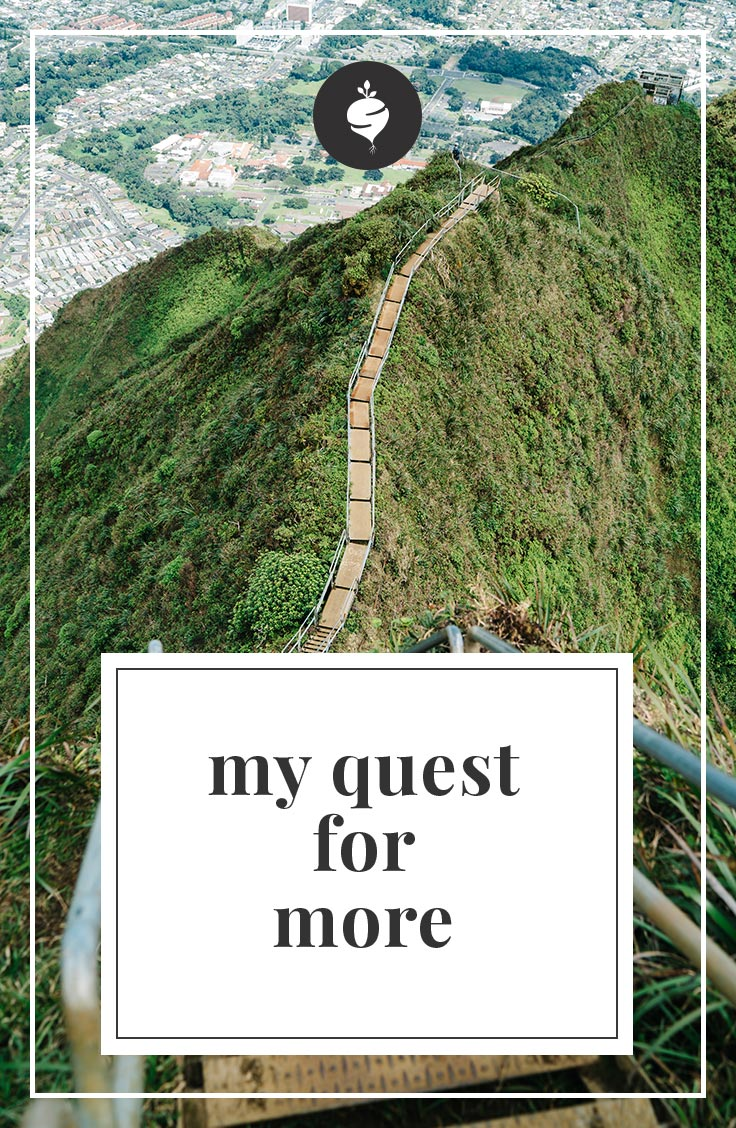 My Quest For More | simplerootswellness.com #podcast #health #mindset #wellness #easy