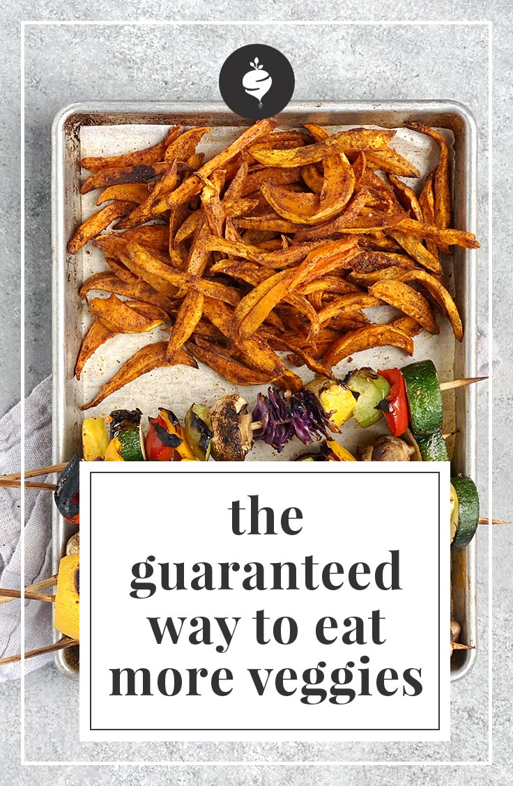 The Guaranteed way to eat more veggies | simplerootswellness.com #batchcooking #mealprep #healthy #homemade #vegetables #gethealthy #easy #eat #recipes