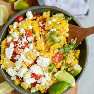 20-Minute Tomato & Feta Sweet Corn Salad | simplerootswellness.com #salad #supper #recipe #summer #healthy #easy #20minute #healthyfood